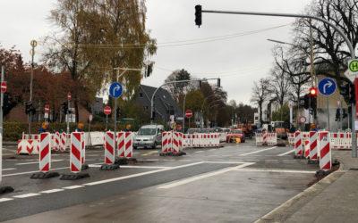 Rahlstedter Straße: Bauarbeiten drei Wochen eher fertig