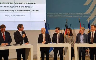 S-Bahn-Linie S4 nach Rahlstedt: Finanzierung in Berlin unterzeichnet