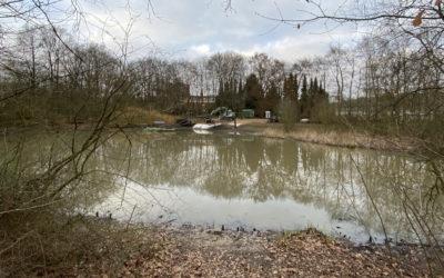 Entschlammung der Lehmkuhle im Greifenberg-Park abgeschlossen