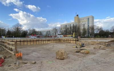 Sichtbare Fortschritte beim Neubau des Nahversorgungszentrums Spitzbergenweg