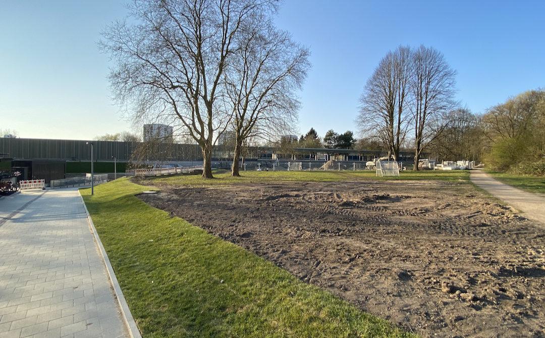 Neuer U-Bahnhof Oldenfelde: Außenanlage wird fertiggestellt