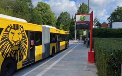 Wo bleibt der Fahrgastunterstand für die Haltestelle Rahlstedter Weg (Mitte)?