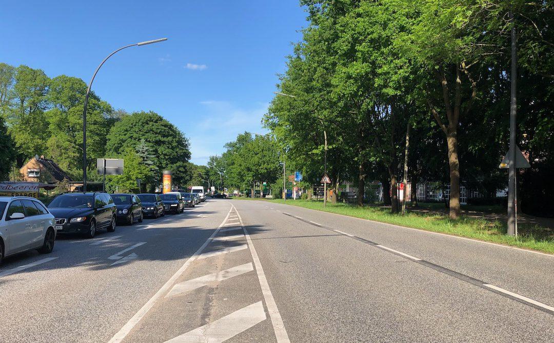 Sieker Landstraße wird auf einer Länge von 420 Metern vierspurig ausgebaut