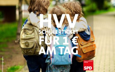 Ab dem Schuljahr 2021/2022: HVV-Schülerticket für einen Euro am Tag!