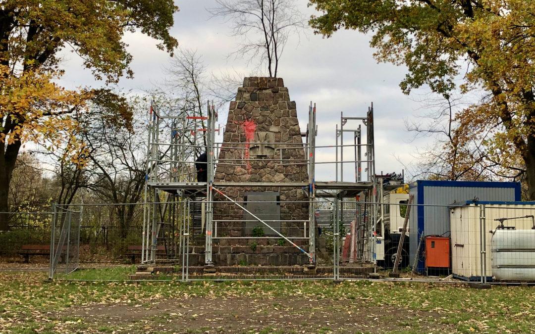 Restaurierung des maroden Denkmals im Jugendpark Rahlstedt hat begonnen