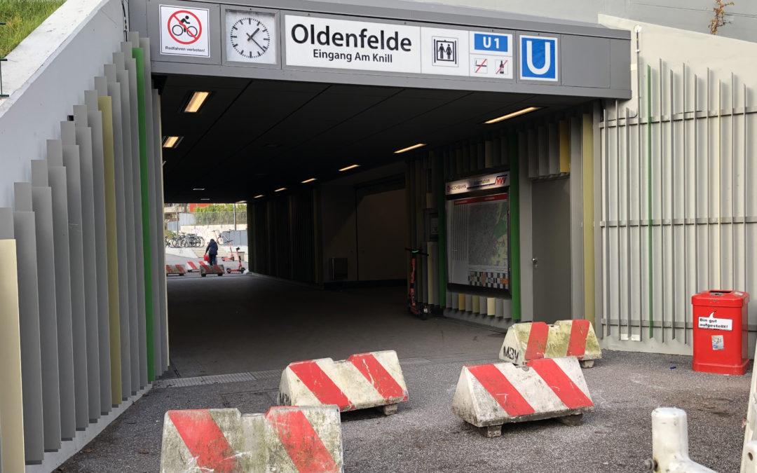 Betonschweine am U-Bahnhof Oldenfelde: Was soll das?