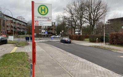 Bushaltestelle Alter Zollweg in der Bekassinenau wird barrierefrei