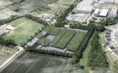 In Meiendorf entsteht Deutschlands erster reiner Öko-Busbetriebshof