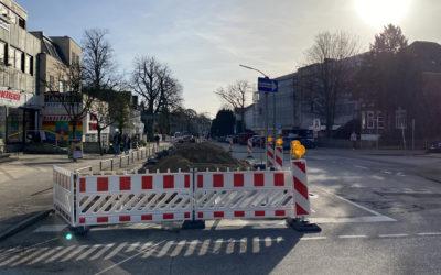 Veloroute 7 erreicht den Ortskern: Umbau der Rahlstedter Bahnhofstraße ab 12. April (Update)