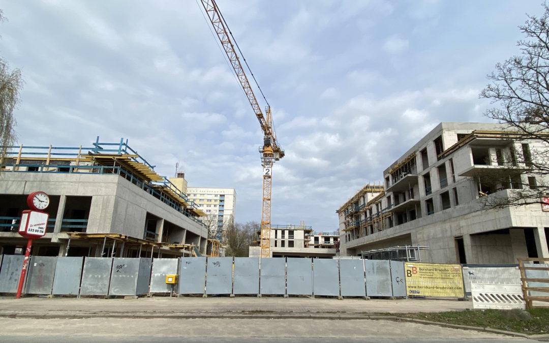 Neubau des Nahversorgungszentrums Spitzbergenweg nimmt Gestalt an