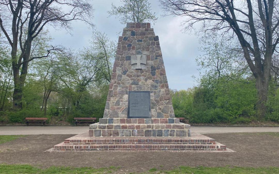 Fertig: Denkmal im Jugendpark Rahlstedt saniert