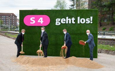 Die S4 kommt: Offizieller Baubeginn für die neue S-Bahn-Linie