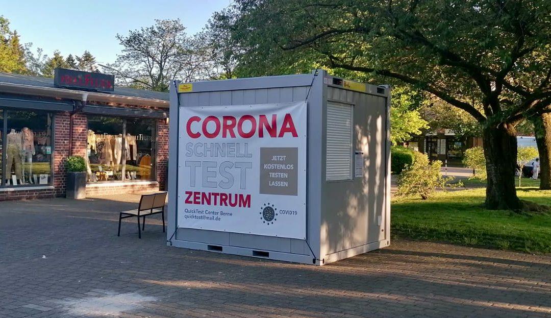 Und noch eins: Corona-Testzentrum in der Alten Berner Straße 4b
