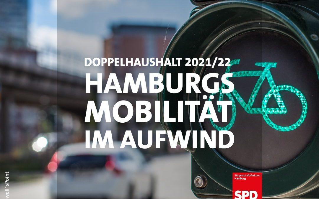 Haushalt 2021/22: Starker Rückenwind für Mobilitätswende und Hamburg-Takt