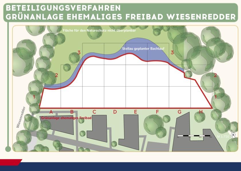 Entwicklung der zukünftigen Grünfläche am ehemaligen Freibad Wiesenredder
