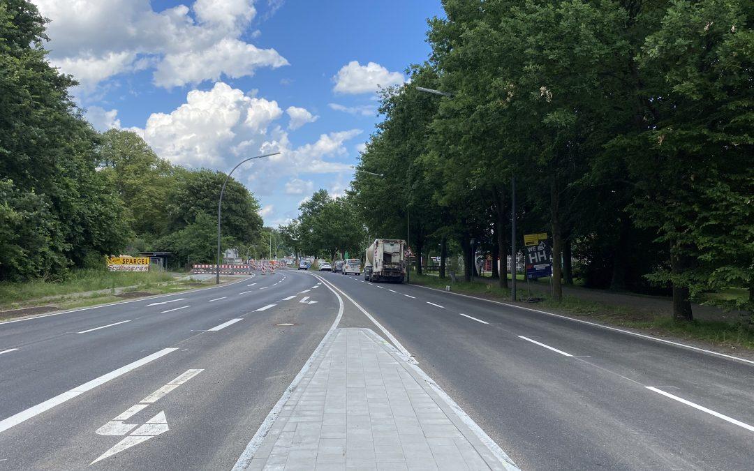 Vierspuriger Ausbau der Sieker Landstraße abgeschlossen