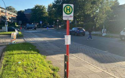 Ab 1. Oktober: Bushaltestelle Alter Zollweg in der Bekassinenau wird barrierefrei