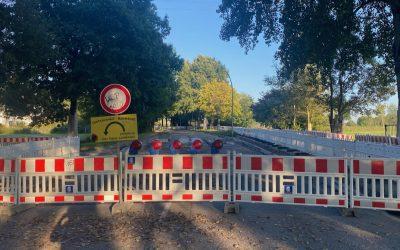 Stapelfelder Straße: Bauarbeiten für Fußgänger-Sprunginsel und Bus-Kommunaltrasse